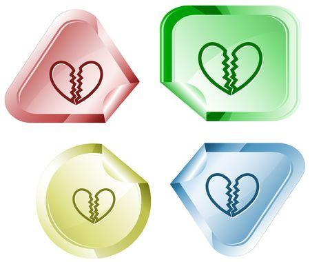 Unrequited love.  sticker. Vector