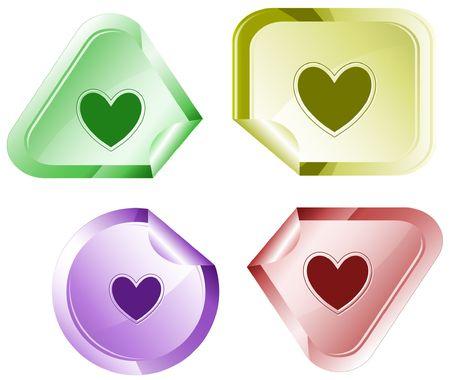 hamous: Heart. sticker.