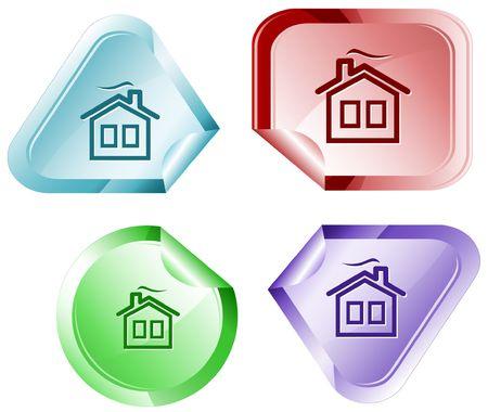 hamous: Home.  sticker. Illustration