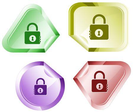 closed lock: Closed lock. sticker. Illustration