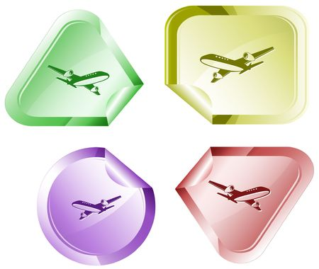 Airliner. sticker. Stock Vector - 6779768