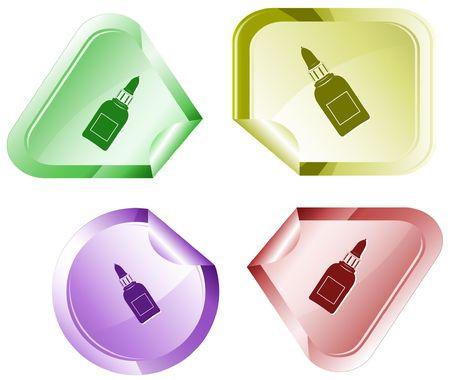 hamous: Glue bottle.  sticker.