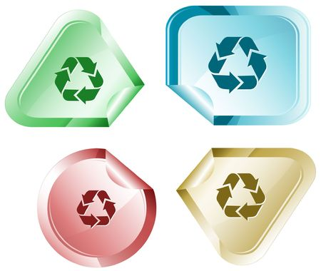 declinate: Recycle symbol. sticker.
