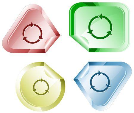 hamose: Recycle symbol. sticker.