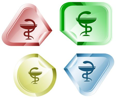 pharma: Pharma symbol.  sticker.