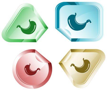 Stomach.  sticker. Stock Vector - 6779607