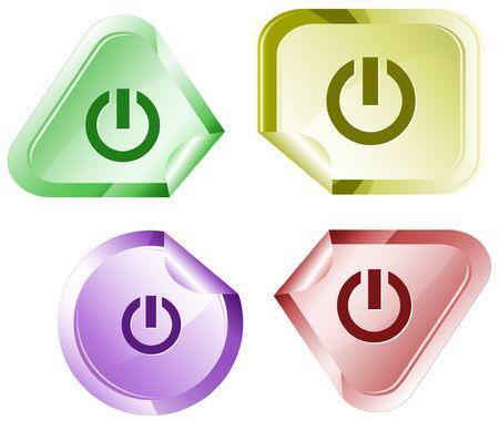 Switch element. sticker. Stock Vector - 6779466