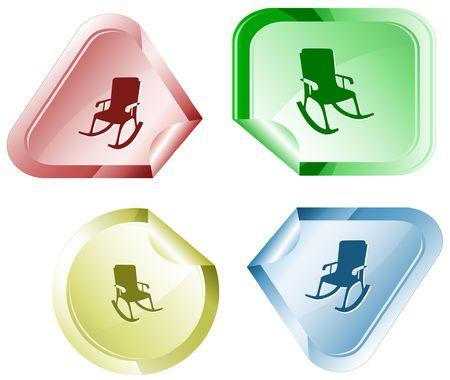 Armchair.  sticker. Stock Vector - 6779605