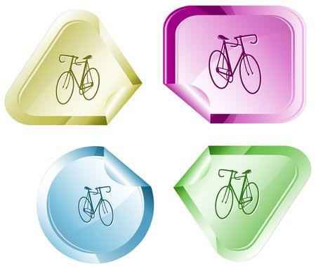 hamose: Bicycle. sticker.