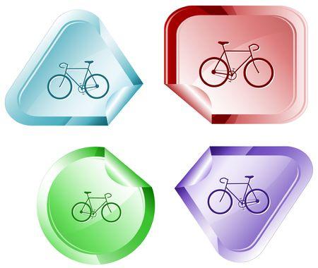 bent highway: Bicycle.  sticker.
