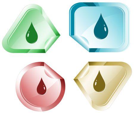 Drop. sticker. Stock Vector - 6779565