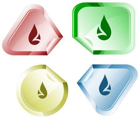 Drop.  sticker. Stock Vector - 6779471