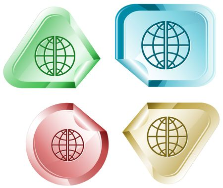 declinate: Globe. sticker.