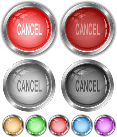 Cancel. Vector internet buttons. Stock Vector - 6846441