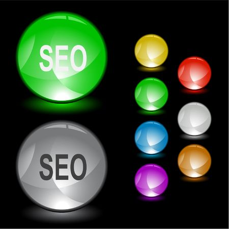 Seo. Vector interface element. Stock Vector - 6846241