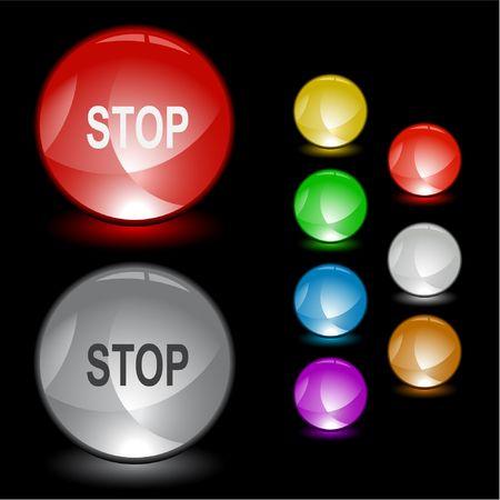 Stop. Vector interface element. Vector