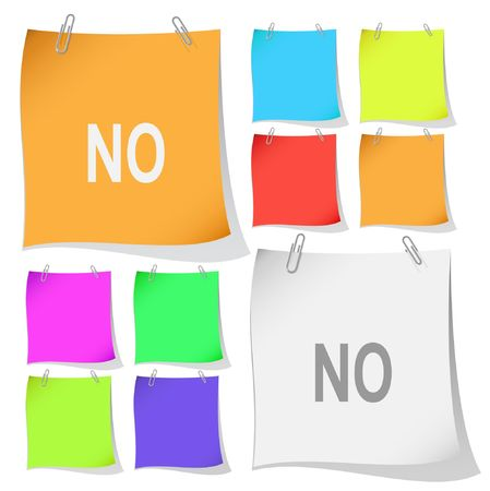 No. Vector note papers. Stock Vector - 6846376