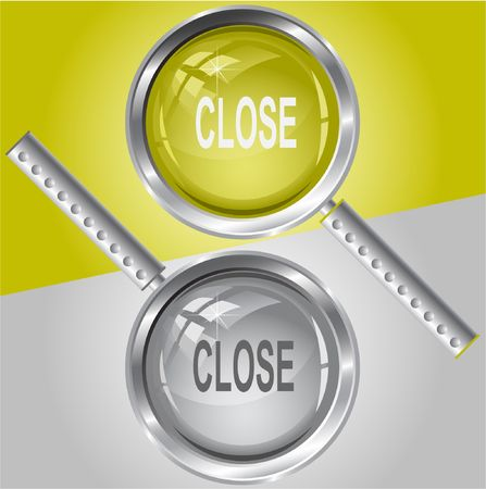 inaccessible: Close. Vector magnifying glass.