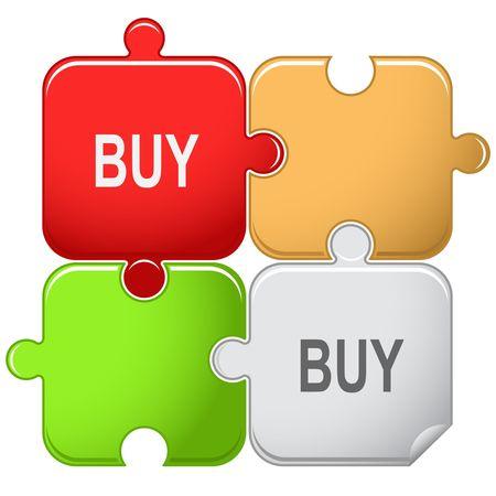 Buy. Vector puzzle. Stock Vector - 6846232