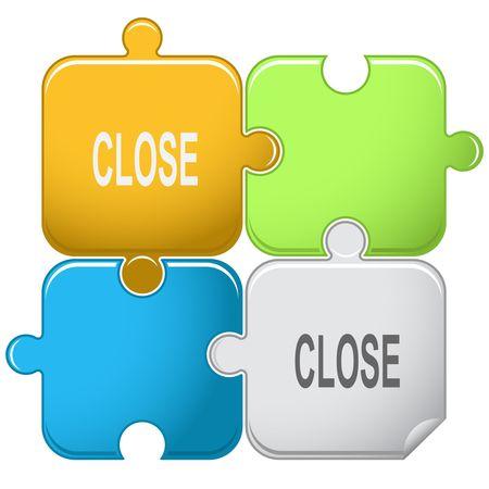 inaccessible: Close. puzzle. Illustration
