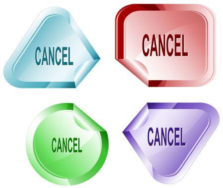 hamous: Cancel. Vector sticker.