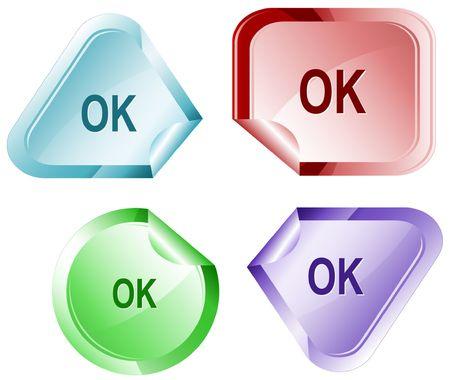 hamose: Ok. Vector sticker. Illustration
