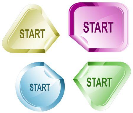 hamose: Start. sticker. Illustration