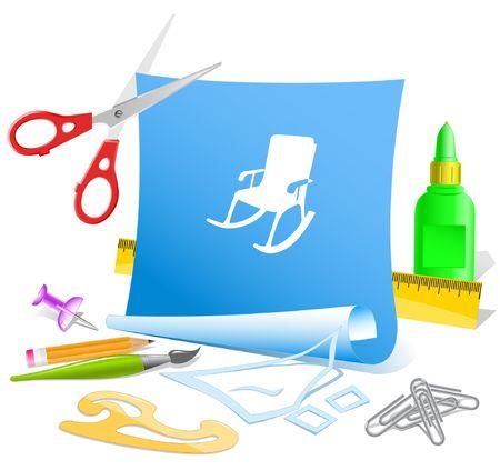 Armchair. Vector paper template. Stock Vector - 6846573