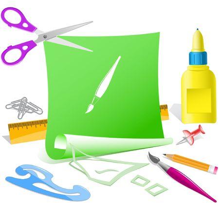 Brush. Vector paper template. Stock Vector - 6846643