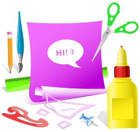pva: Chat symbol. paper template. Illustration