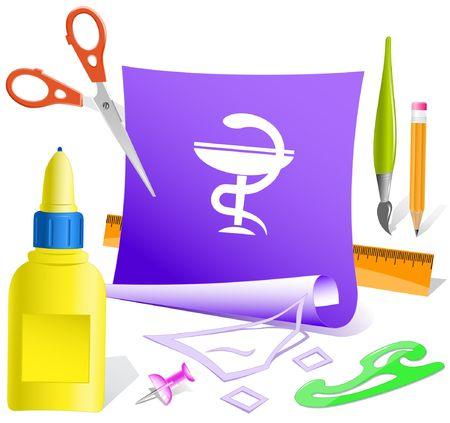 Pharma symbol. Vector paper template. Stock Vector - 6846498