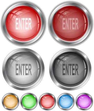 Enter. internet buttons. Vector