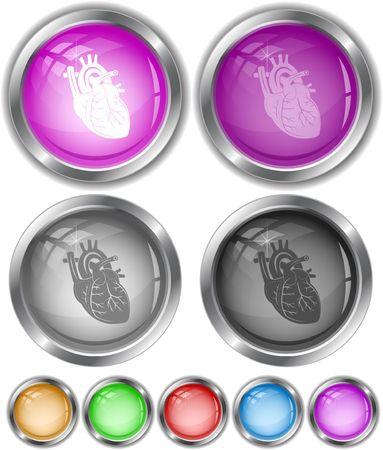 Heart. Vector internet buttons. Stock Vector - 6846930