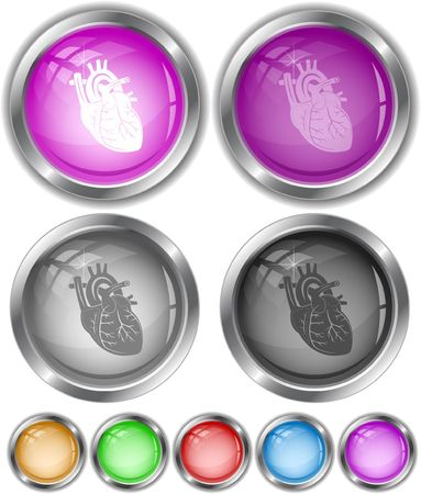 Heart. Vector internet buttons. Stock Vector - 6846930