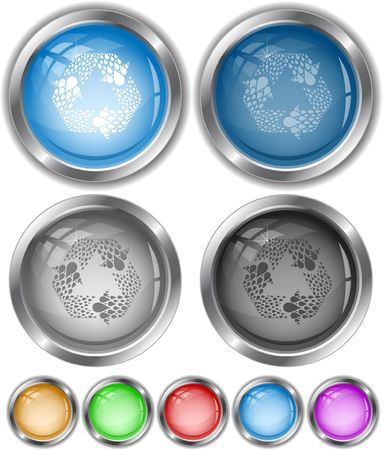 Recycle symbol. internet buttons. Stock Vector - 6846933