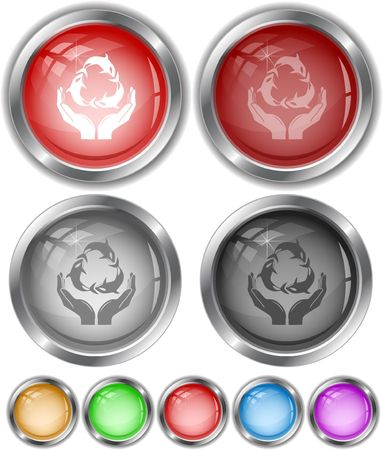 Protection nature. internet buttons. Vector