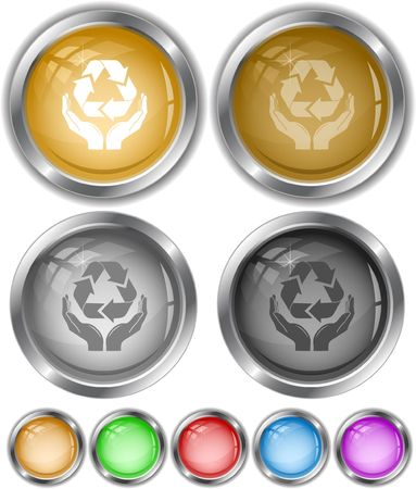Protection nature. internet buttons. Stock Vector - 6846929