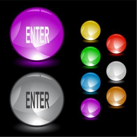 Enter. Vector interface element. Stock Vector - 6846715