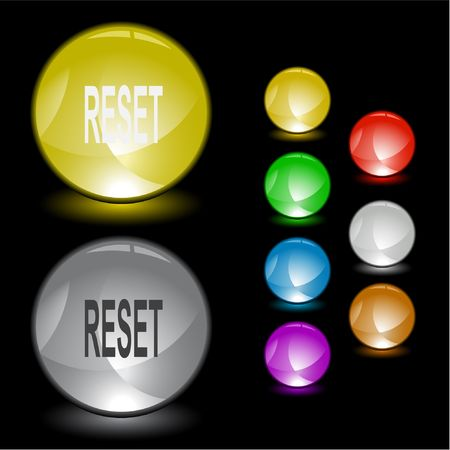 disabling: Reset. Vector interface element. Illustration