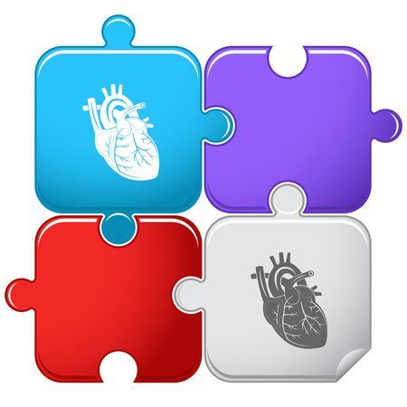 Heart. Vector puzzle. Stock Vector - 6846727