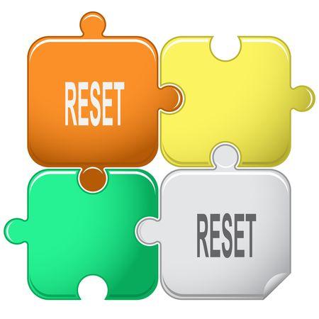 undoing: Reset. Vector puzzle.