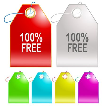 100% free. Vector tags. Stock Vector - 6846750