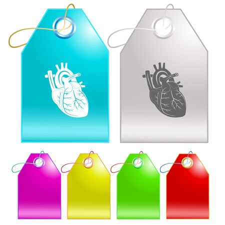 Heart. Vector tags. Vector