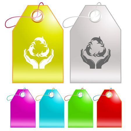 Protection nature. Vector tags. Stock Vector - 6846756