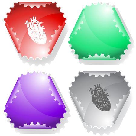 Heart. sticker. Stock Vector - 6846818