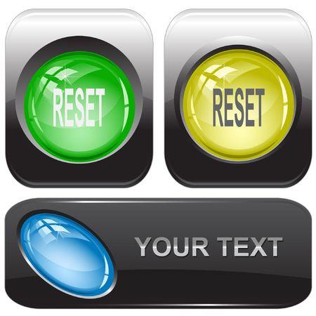 undoing: Reset. Vector internet buttons.