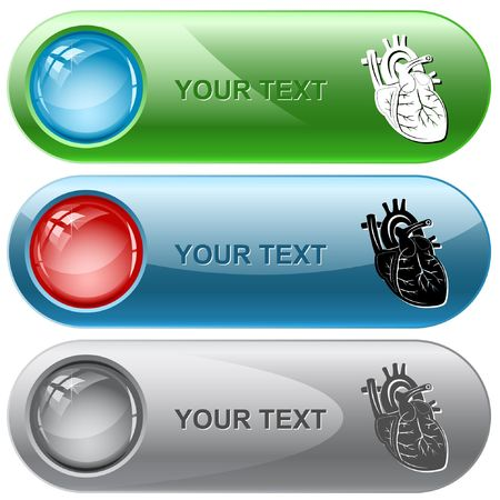 Heart. internet buttons. Vector