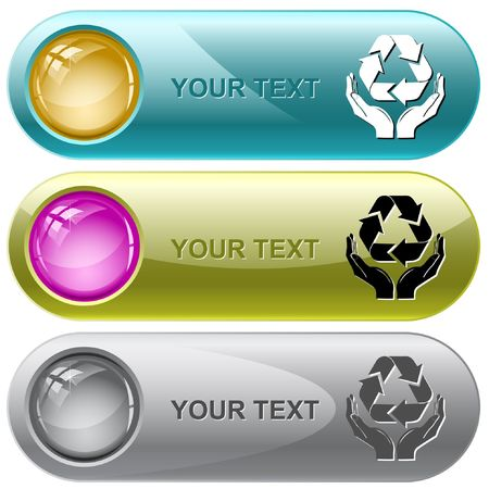 Protection nature. Vector internet buttons.