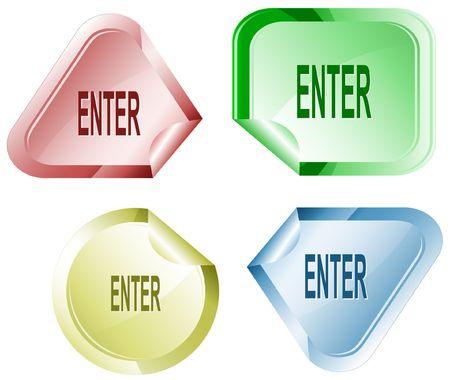 hamose: Enter. sticker. Illustration