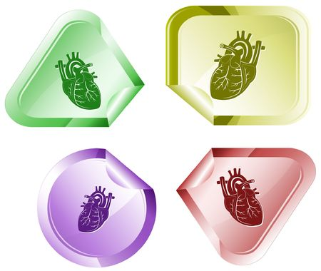 Heart. Vector sticker. Stock Vector - 6846859